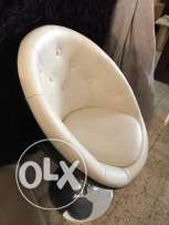 leather swing desk chair