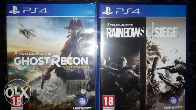Ghost recon and rainbow siege they are used 2 days only ..super clean