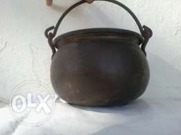 Amazing copper pot, very old, heavy copper, 25$