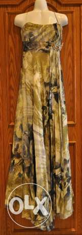 Gold Printed Evening Gown - Sample Sale