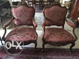 Antique Louis 15 Twin Chairs