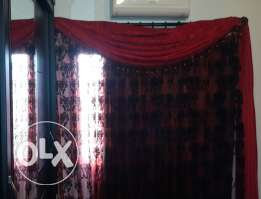Black and Red Curtain