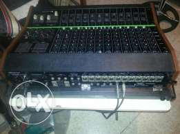 Toa original mixer 12ch.with effects with two speakers and Amplifier