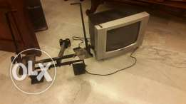 TV 14inch like new with stand