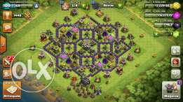 Clash of clans town hall 9 with leader clan lvl 6 for 100$