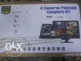 Cctv AHD 4 camera kit P2P app to watch in smart phone