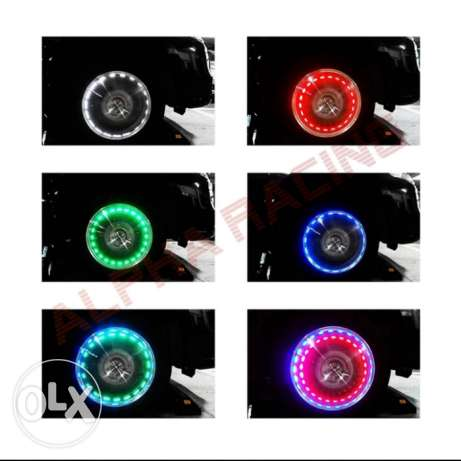 Solar Energy Flash WheelNeon Light Lamp Decoration Car Wheel Tire Air