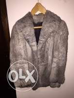 Rabbit fur coat for women