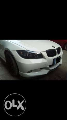 E90 2006 original german front bumper with shnitzer plastic lip