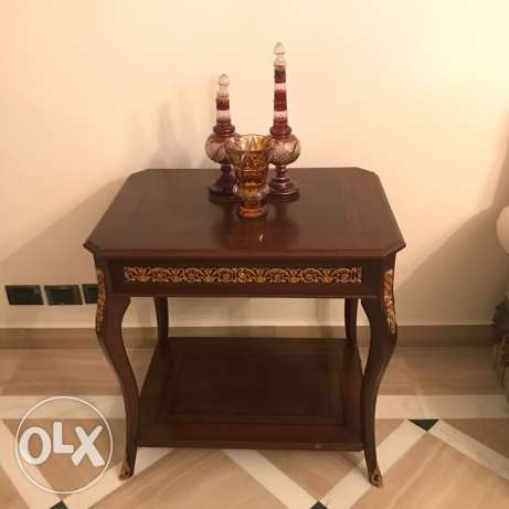 brown wooden decorative table