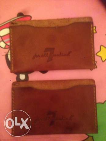seven label mini wallet for business card holder true leather