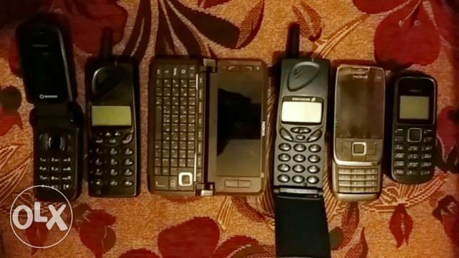 6 old new mobile phones
