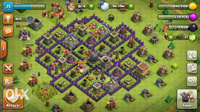 clash of clan th8 for sell