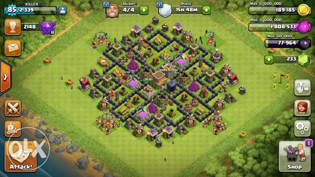 Clash of clans برج حمود -  6
