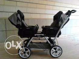 Peg Perigo Stroller for Twins with 2 car seats