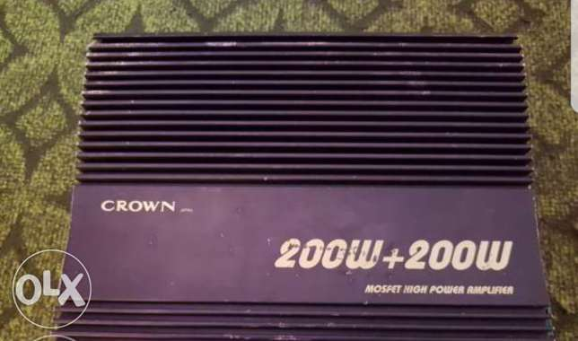Crown amplifier 200 + 200 rms