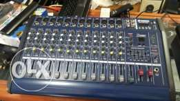 Amplie +mixer 2 in one 12 chanels blutooth bilt in usb