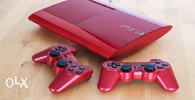 Red PS3 excellent condition barely used