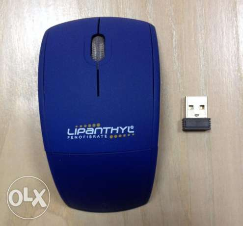 NEW Blue Portable Wireless Mouse For Sale!