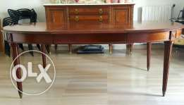 Antique Dining Table, Buffet, Cabinet & Chairs - Great Condition