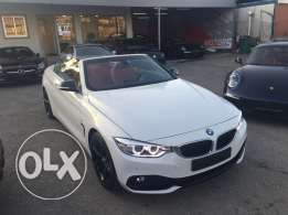 Bmw 420i convertible 2016, white on red, 700km only, 3 years warranty