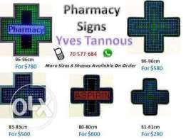 Led and pharmacie cross for sale