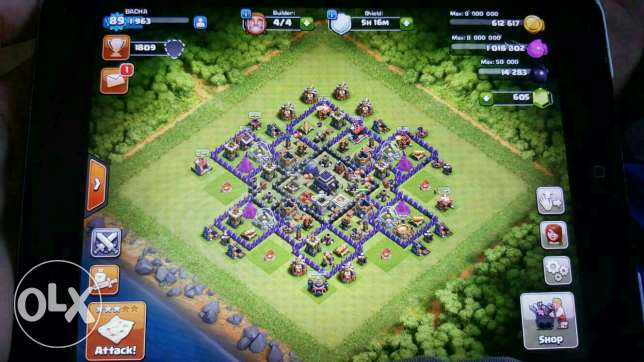 Clash of clans مصطبة -  1