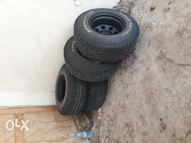 4 tyre and 4 rims