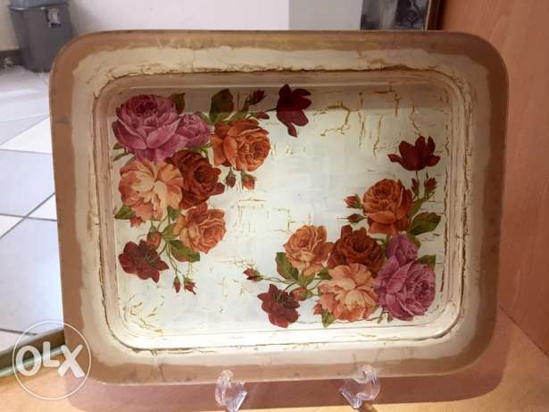 tray hand painted (صينية رسم يدّ)