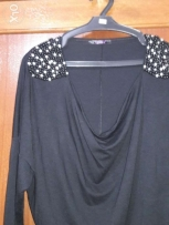 Top black with pearl M/L/XL