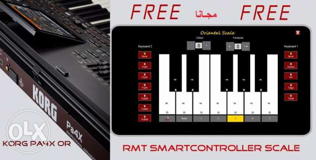 Korg PA4X OR MG Edition with Smart controller software,مكنة شرقي مجانا