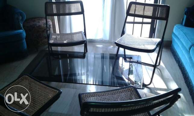 Table and chairs منصورية -  1