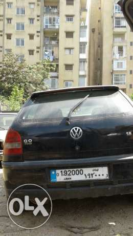 Vw with plate numbre