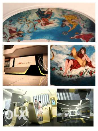 Drawing and painting and decorating interior exterior design