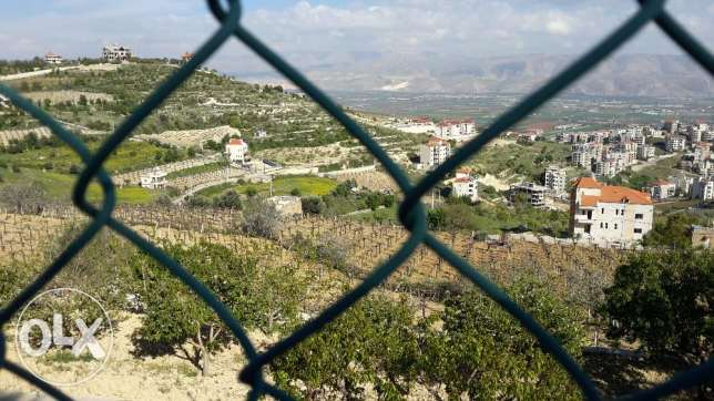 land in the heart of zahle overlooking the bekaa area