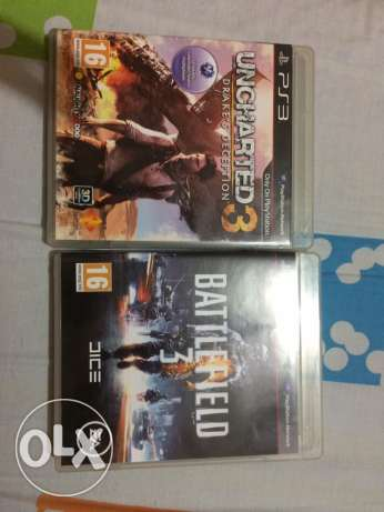 Uncharted 3 + battlefield 3 for 45$ only الشياح -  1
