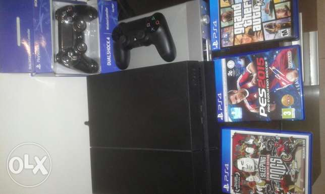 Play station 4 1000pt with 32 inch TV LG + 3 GAMES AND 2 HANDLES. NEW