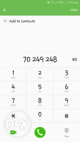 Phone number for sale.
