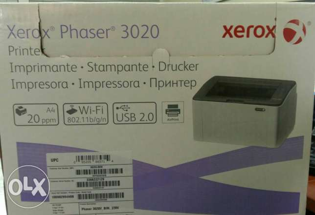 xerox laser printer A4 monochrome + MSI mouse for sale