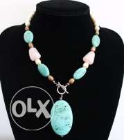 Royal Turquoise and precious stones necklace