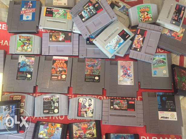 nes , snes, n64 , sega , game boy ORIGINAL games starting 5 dolars
