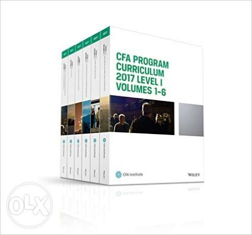 CFA Program Curriculum 2017 Level I New For Sale