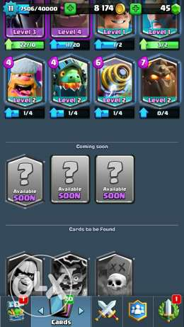 clash royale lvl 11 account