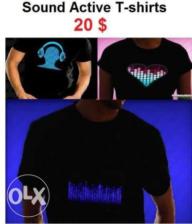 Sound Active t-shirts