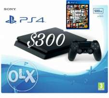 Brand new Ps4 slim europ with game