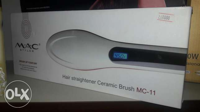 Hair straightner ceramic brush