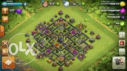 Clash of clans townhall 9, boom beach headquarters 18