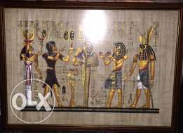 2 Large Egyptian Art Painting For Sale