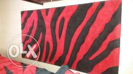 2 Carpets zebra red and black