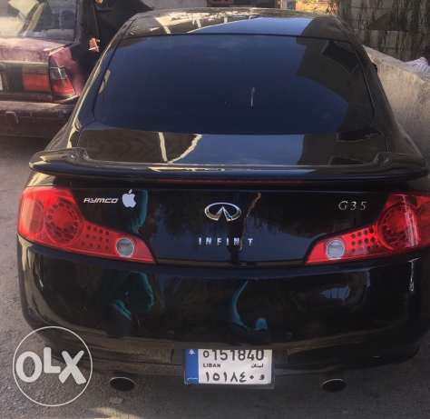 g35 black & black new tires excellent condition no accident حوش الأمراء -  6